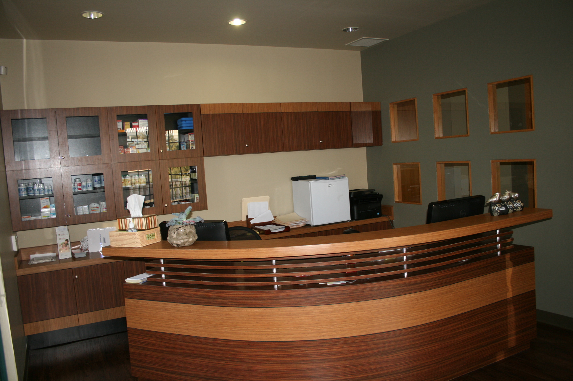 Medical Reception Area http://probelle.com/portfolio-view/medical-office-reception/