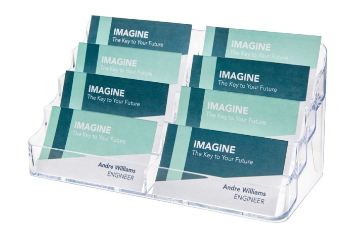 Business Card Holders 8 Compartments-Clear List $12.95
