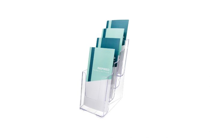 Multi-Compartment Tiered Literature Holder Leaflet Size List $29