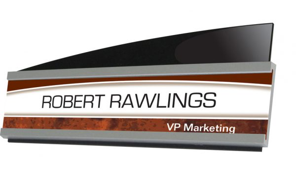 Interior Image Sign Holder 8 1/2 x 2 – Nameplate List $20