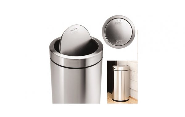 Simplehuman CW1442 Brushed S/S Swing Top 14.5 Gal Trash Can List $149
