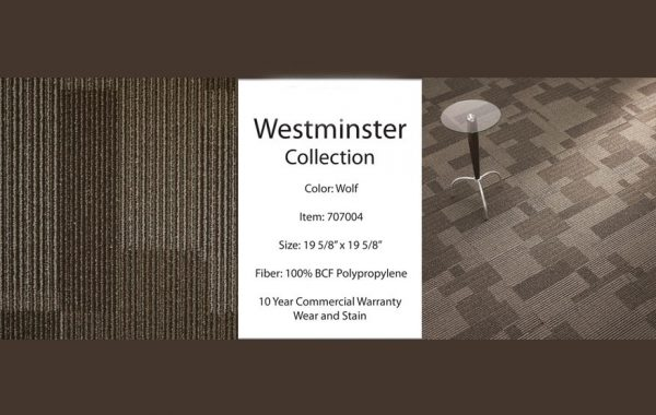 Westminster Carpet Tile list $2.35 sqft