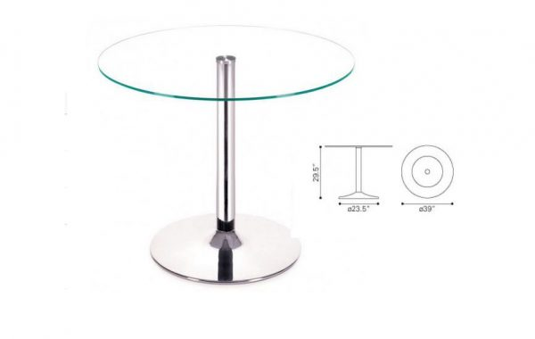 ZUO Galaxy 39 RD Glass Top List $425