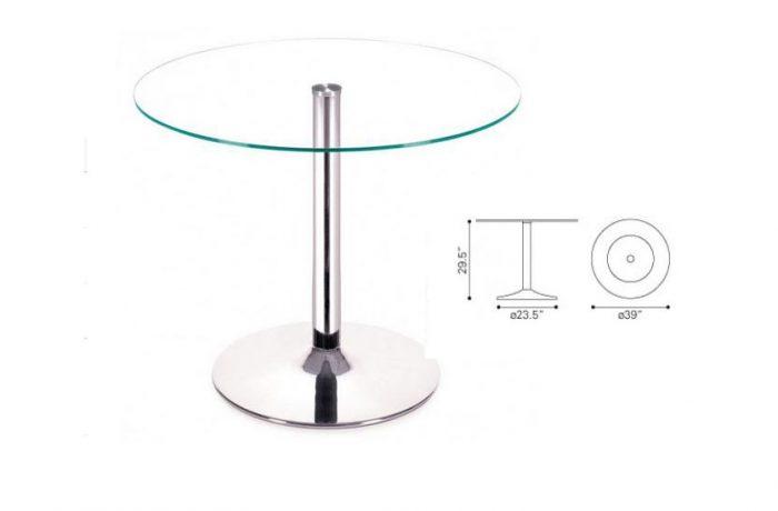 ZUO Galaxy 39 RD Glass Top List $425