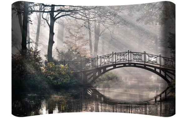 Bridge Over Water Curved Wall Art $149.99