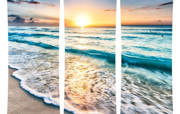 Cancun Sunset Curved Wall Art  $599.99