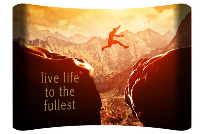 Live Life to the Fullest Curved Wall Art $149.99