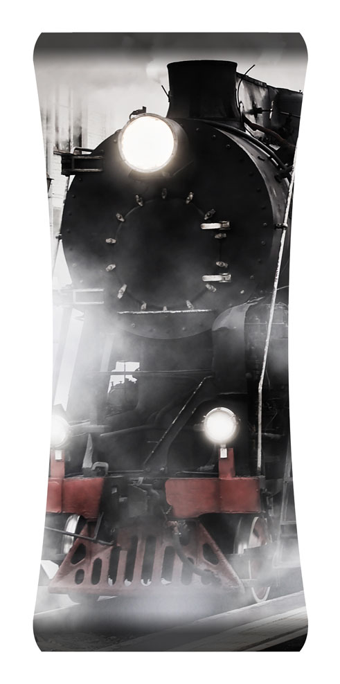 Train Engine Curved Wall Art $199.99
